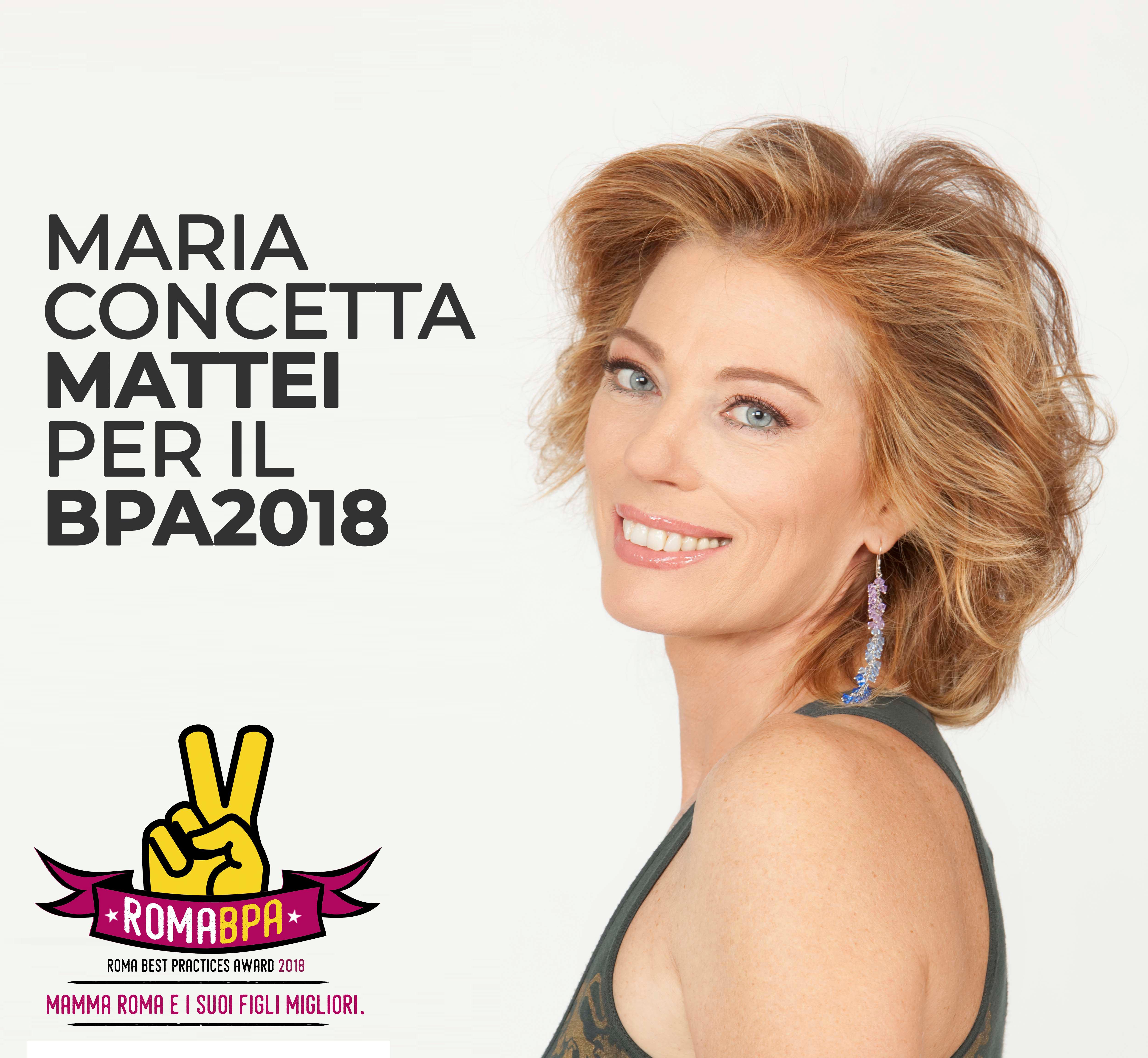 Maria Concetta Mattei testimonial del Roma BPA 2018!